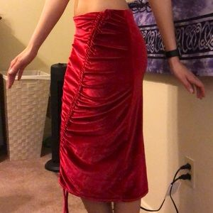ASOS Dark Red Midi Skit